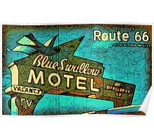 Motel Sign Route 66 Poster