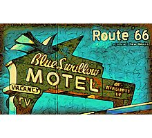Motel Sign Route 66 Photographic Print