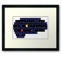 Pacman on the Brain Framed Print