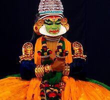 The Character Pacca (Kathakali), Kerala Kalamandalam, India by Robert La Bua