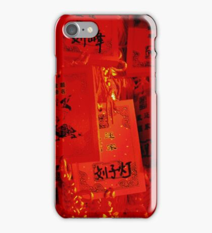 Prayer Plaques, Dongyue Temple, Beijing, China iPhone Case/Skin