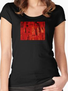 Prayer Plaques, Dongyue Temple, Beijing, China Women's Fitted Scoop T-Shirt