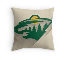 Minnesota Wild Minimalist Print Throw Pillow
