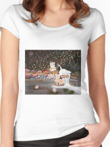 Cats in the Wild II Women's Fitted Scoop T-Shirt