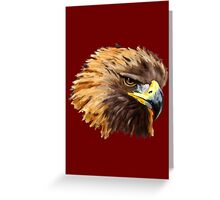 Golden Eagle (Red) Greeting Card
