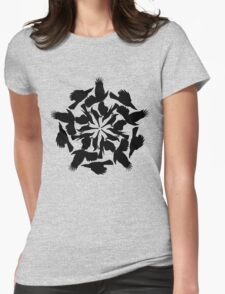 Flight of the Currawongs Womens Fitted T-Shirt