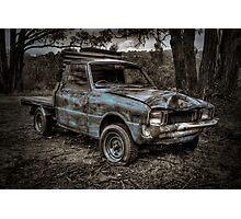 Blue Truck Photographic Print
