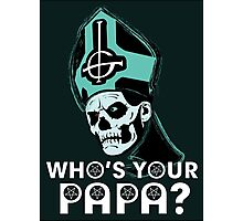 WHO'S YOUR PAPA? - ocean Photographic Print