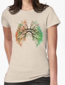 The Root of Lungs Womens Fitted T-Shirt