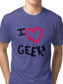 I heart Geeks Tri-blend T-Shirt