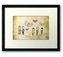 Boys That Love Butterflies Framed Print