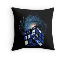 TARDIS CUBE Throw Pillow