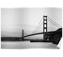 Monochrome Golden Gate Poster