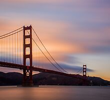 Golden Gate Sunset by Ana Andres-Arroyo