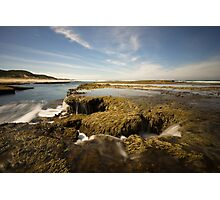 Waterfall Seascapes Photographic Print