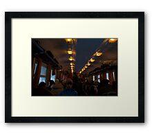 Train travel Framed Print