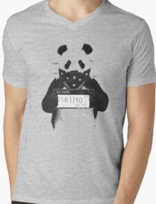 Bad panda Mens V-Neck T-Shirt