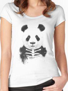 Zombie panda Women's Fitted Scoop T-Shirt