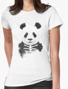 Zombie panda Womens Fitted T-Shirt