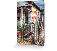 Rusty gate, Stuart-Town Bakery Greeting Card