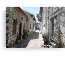 The Cobbled BackStreets Surrounding Old Marmaris  Metal Print