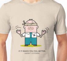 Mr. White Collar - Listening Unisex T-Shirt