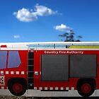 Little CFA truck residing in bushfire ravaged Jindivick, West Gippsland by Bev Pascoe