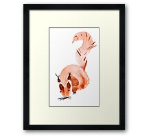watercolor squirrel. Watercolor hand drawn brush Framed Print