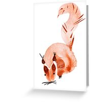 watercolor squirrel. Watercolor hand drawn brush Greeting Card