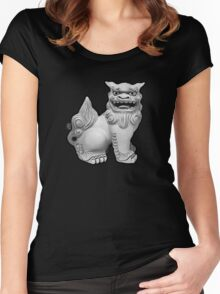 Shisa (right) Women's Fitted Scoop T-Shirt