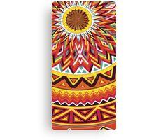 aztec mandala yellow Canvas Print