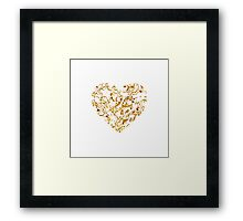 Lace Golden Heart Framed Print