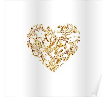 Lace Golden Heart Poster