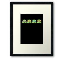 TEENAGE MUTANT NINJA TROOPERS (green) Framed Print