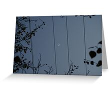 Moon on a wire Greeting Card