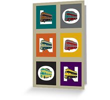 London Double Decker Greeting Card