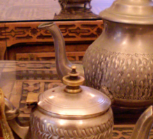 Tea Service, Marrakesh, Morocco Sticker
