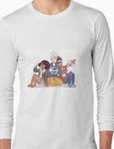 Cool Kid Trio Plays Mario Kart Long Sleeve T-Shirt