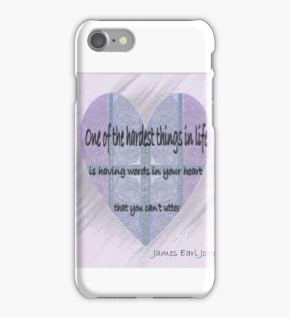 Love that can't be spoken iPhone Case/Skin
