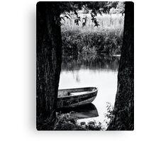 boat bw Canvas Print