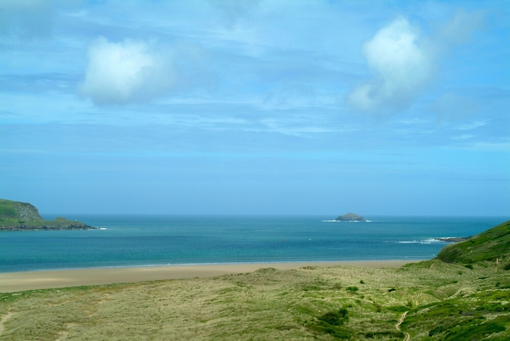 Clouds over dunes - Rock Cornwall by Flo Smith