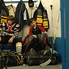 Hockey change room 1 by Carolyn Prior