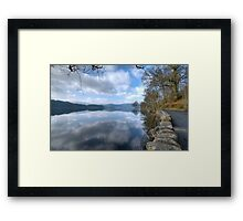 Reflections at the roadside Framed Print