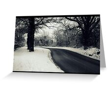Snow scene.  Greeting Card