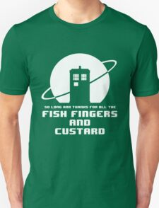 Fish Fingers and Custard White T-Shirt