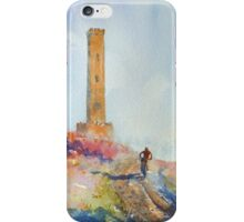 Holcombe Hill Cyclist iPhone Case/Skin