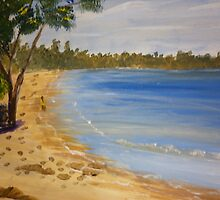 Paddling on the Beach at Swanhaven by PamelaMeredith