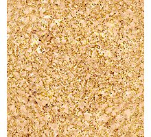Peach Stone in Golden Lace Photographic Print