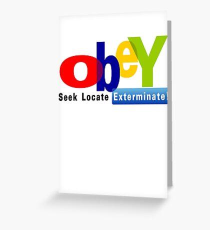 Obay  Greeting Card
