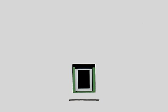 White Wall, Green Window by ericthom57